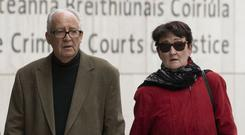 Parents: Geraldine and Patrick Kriegel, parents of Ana Kriegel, leaving court yesterday. Photo: Collins Courts