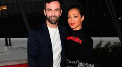Nicolas Ghesquiere and Ruth Negga attend the Louis Vuitton Cruise 2020 Fashion Show at JFK Airport on May 08, 2019 in New York City. (Photo by Nicholas Hunt/Getty Images for Louis Vuitton)