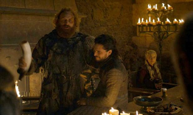 The coffee cup on the banquet table on Game of Thrones. PIC: HBO