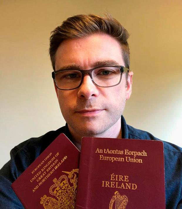 Tristan Drysden from Derry, who says he was asked to show his passport on the Belfast to Dublin bus