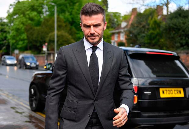 David Beckham hit with six-month driving ban
