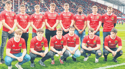Munster Schools Rugby Top XV at Thomond Park. Photo: Press 22