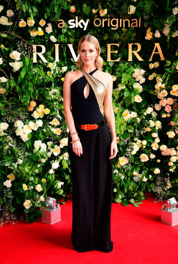 Poppy Delevingne attending the season two of Riviera Premiere hosted at Saatchi Gallery on 7 May. Photo: PA Images on behalf of Sky Atlantic