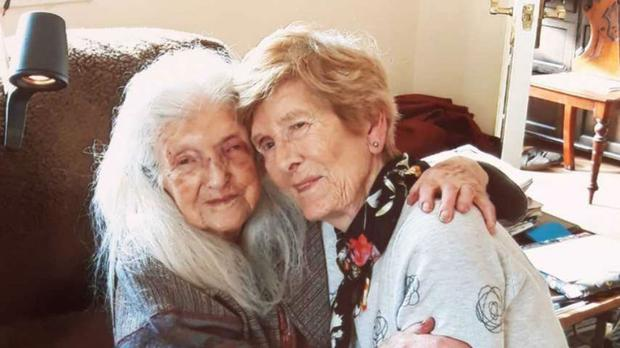 Eileen Macken, 81, has met her 103-year-old mother Elizabeth for the first time (RTE Radio 1 Liveline/PA)