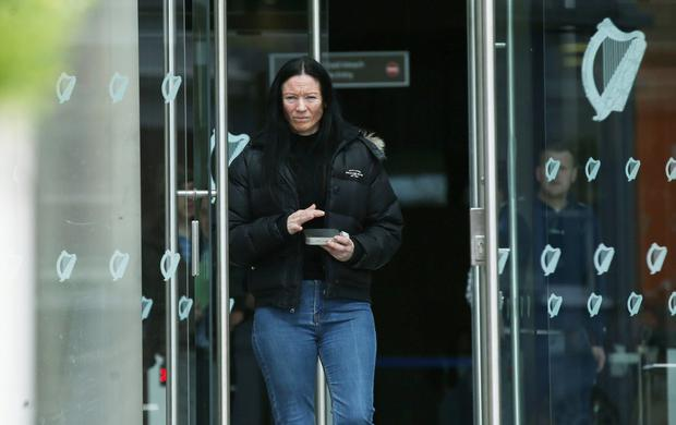 10/05/19 Angela Walsh (44) of Ferrycarrig Park, Coolock, Dublin pleaded guilty at Dublin Circuit Criminal Court to three counts of stealing cash from Thomas Armstrong at Bank of Ireland, Coolock Village on dates between October 20, 2016 and March 2017 Pic Collins Courts