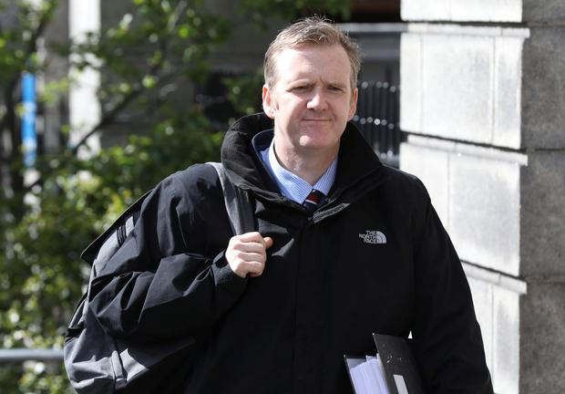 10/5/2019 WITNESS - Irish Daily Star Crime Correspondent, Michael O Toole pictured at the Four Courts yesterday(Fri) to give evidence in a High Court action taken by Celebrity Solicitor, Gerald Kean.Pic: Collins Courts