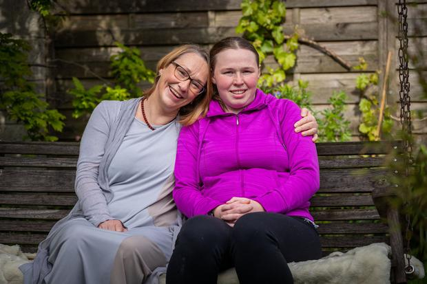 Helping hands: Maria and Lucy Dollard at their home in Kilkenny. Photo: Dylan Vaughan.
