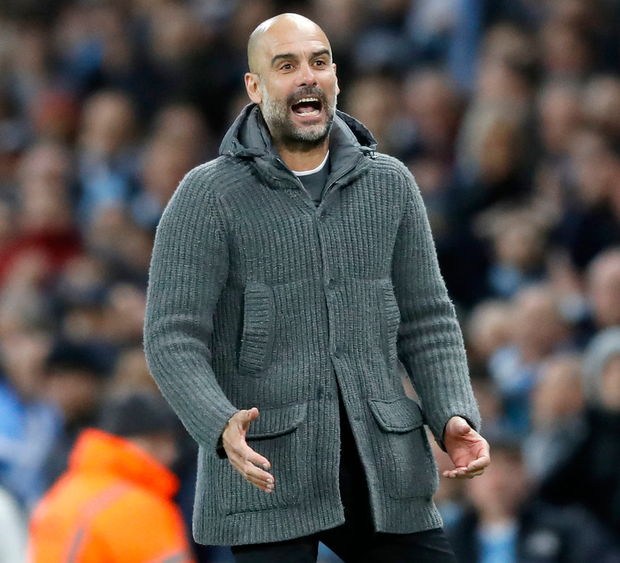 Manchester City boss Pep Guardiola is just one win away from clinching back-to-back Premier League titles