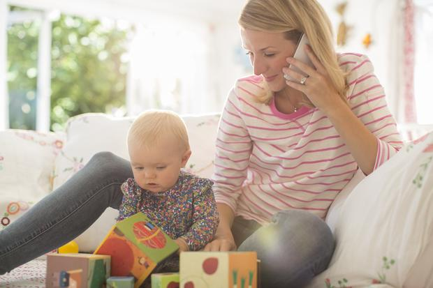 'Nowadays, the percentage of Irish women combining a career with child rearing continues to zoom upwards' (stock photo)