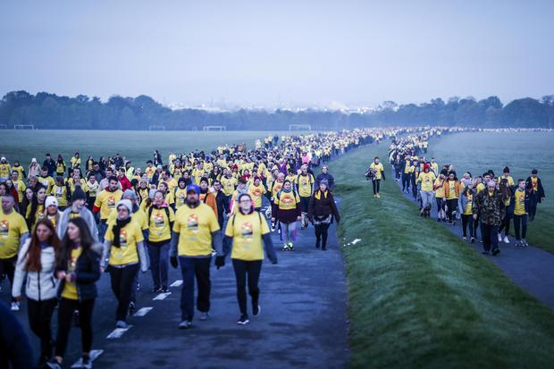 The Power of Hope: Pictured at the Phoenix Park Darkness Into Light 2019 event. Thousands of people across 202 locations worldwide walked together in hope against suicide at this year's Darkness Into Light, proudly supported by Electric Ireland, raising vital funds to ensure Pieta can continue to provide critical support in the fight against suicide. Picture: Conor McCabe Photography.