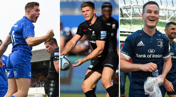 Jordan Larmour, Owen Farrell and Johnny Sexton