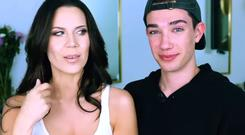 Tati Westbrook and James Charles. PIC: YouTube