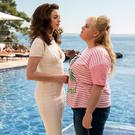 Anne Hathaway and Rebel Wilson in The Hustle. Christian Black / Metro Goldwyn Mayer Pictures© 2018 Metro-Goldwyn-Mayer Pictures Inc. All Rights Reserved.