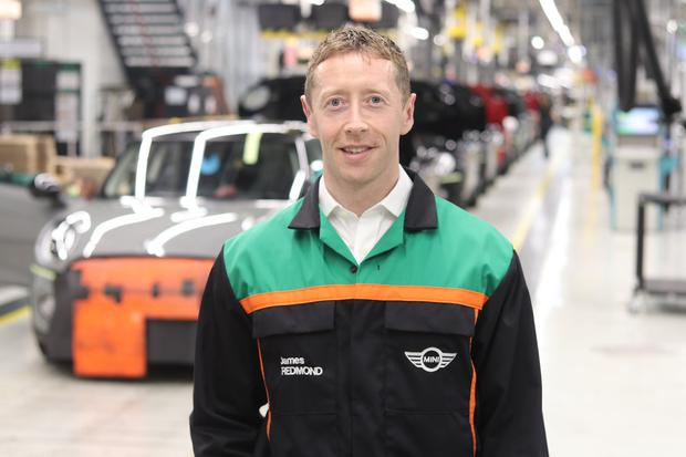 Mini engineer James Redmond, from Dundalk, who has been working on different aspects of the Mini, including the new electric model that will help carry on the story of the popular small car