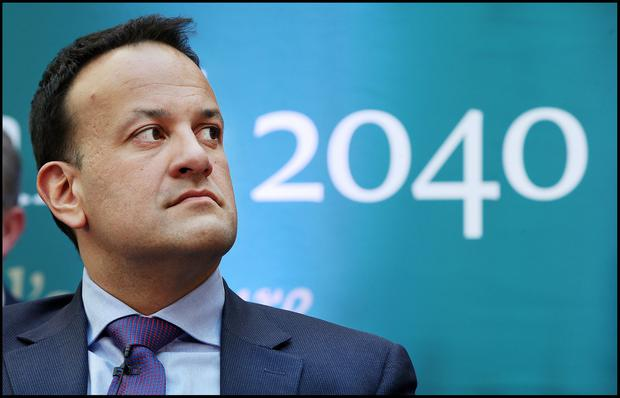 Time will tell: Taoiseach Leo Varadkar at the launch of the National Broadband Plan. Photo: Steve Humphreys