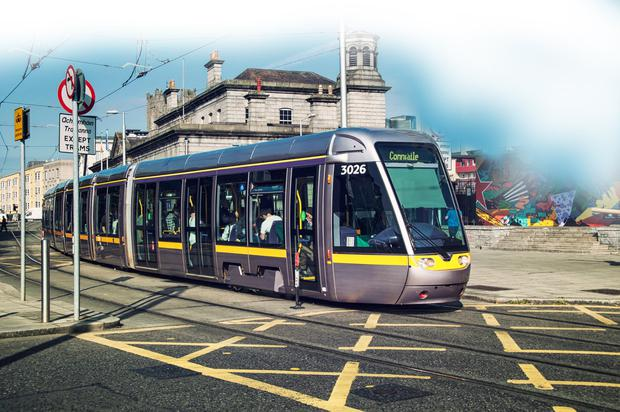 'Figures obtained by the Sunday Independent show there were more than 1,100 incidents of anti-social behaviour, public disorder, theft and aggressive behaviour on Luas services last year'. Photo: Depositphotos