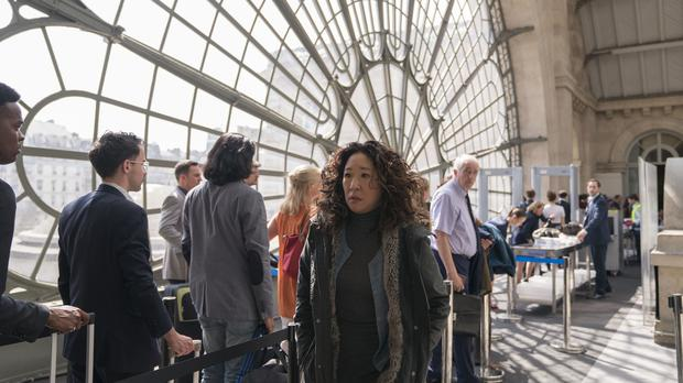 Eve, played by Sandra Oh, in season two of Killing Eve (Aimee Spinks/BBC America)