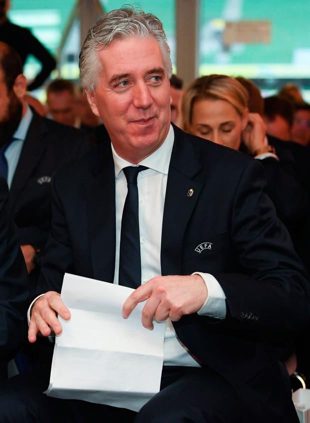 Stepped aside: Former FAI chief executive John Delaney. Photo: Stephen McCarthy/Sportsfile