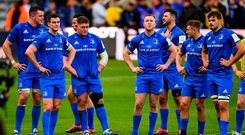 Leinster players following the Heineken Champions Cup Final defeat to Saracens