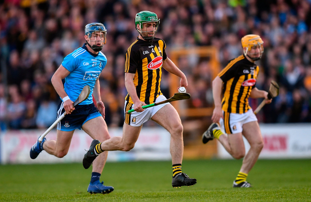 Tommy Walsh of Kilkenny in action against Riain McBride of Dublin. Photo by Stephen McCarthy/Sportsfile
