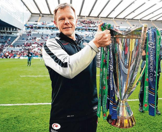Saracens supremo Mark McCall with the trophy after his side's Champions Cup final victory. Photo: David Davies/PA Wire