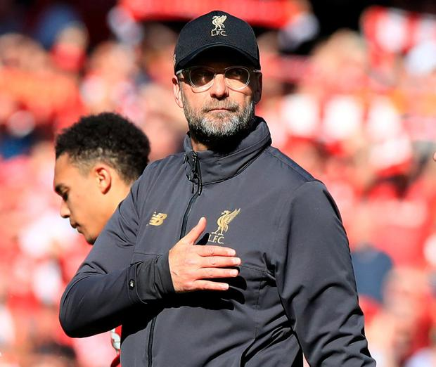 Liverpool manager Jurgen Klopp. Photo: Peter Byrne/PA Wire