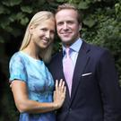 This handout photograph issued by Buckingham Palace shows Lady Gabriella Windsor and her fiancé Mr Thomas Kingston after the announcement of their engagement. Picture: Alexandra Diez de Rivera/PA Wire