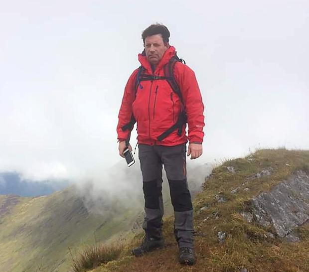 Experienced climber: Ger Duffy (59) on Mount Brandon, Co Kerry. Photo: Press 22