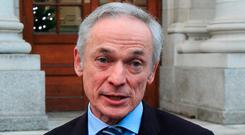 Richard Bruton: Responded to criticism of the broadband plan. Photo: Gareth Chaney, Collins