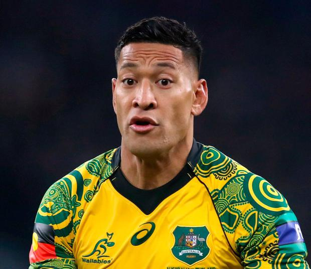 Israel Folau. Photo: Adam Davy/PA Wire