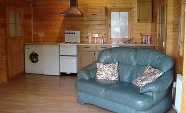Cosy: €765 per month for this wooden chalet in Swords, Co Dublin