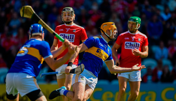 Séamus Callanan of Tipperary celebrates after scoring his side's first goal against Cork