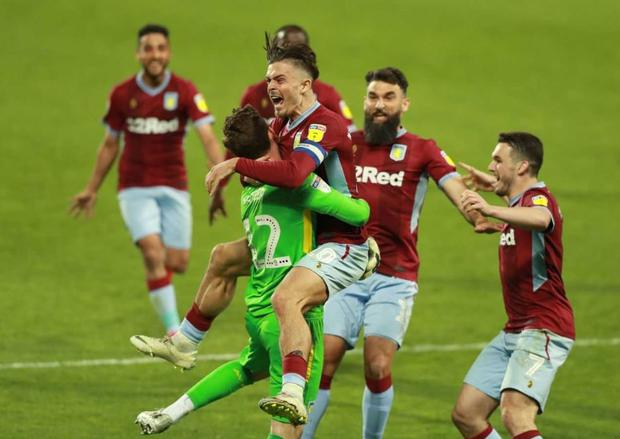 Aston Villa captain Jack Grealish led the celebrations as his side returned to Wembley for a second year in succession