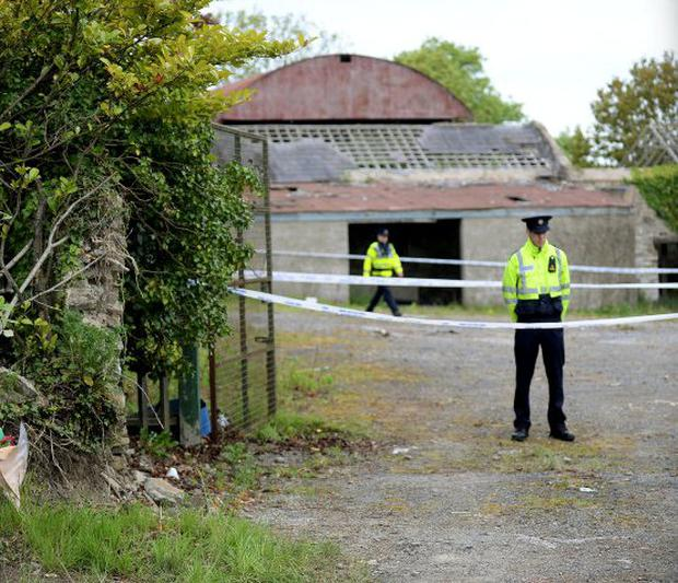 Ana Kriegel was found murdered at this derelict house in Lucan, Co. Dublin. Photo: Caroline Quinn