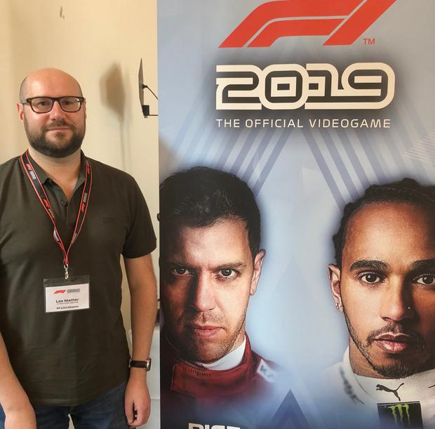 F1 2019 game director Lee Mather at the preview event in Hamburg. Photo: Ronan Price