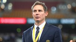 Available: Stephen Larkham was axed from Michael Cheika's Australia set-up. Photo: Chris Hyde/Getty Images