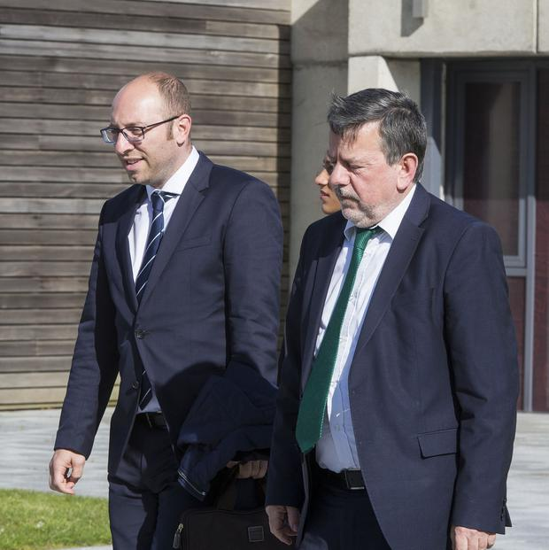 Support: Fifa's Bjorn Vassallo and FAI president Donal Conway after the meeting at Abbotstown yesterday. Photo: Colin O'Riordan