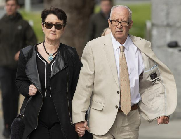 Trial: Patric and Geraldine Kriegel, parents of Ana Kriegel, at court yesterday. Photo: Collins