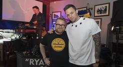 Ed Smith from Today FM with Niall Breslin aka Bressie, at the Tipp Classical 2019 launch at Ryans of Camden Street, Dublin. Photo: Michael Donnelly.