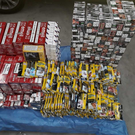 The cigarettes and tobacco that were seized by Revenue Photo: Revenue