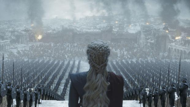 A scene from the Game Of Thrones finale