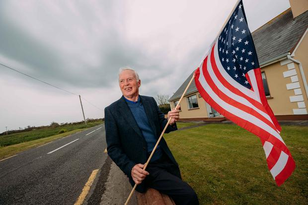 Senan Mccarthy all set to welcome President Trump to Doonbeg. Photograph by Eamon Ward