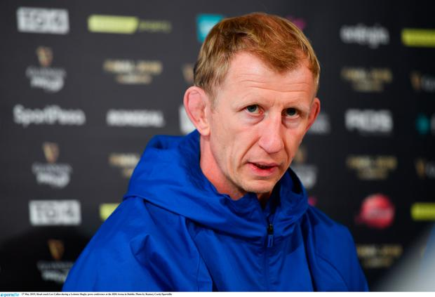 Head coach Leo Cullen during a Leinster Rugby press conference at the RDS Arena in Dublin. Photo by Ramsey Cardy/Sportsfile