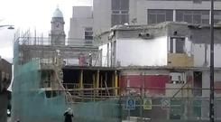 The Irish Distillers Building in Smithfield after its demolition