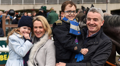 Family: Michael and Anita O'Leary pictured in 2016 with two of their children, Tiana (8) and Zach (6). Photo: Cody Glenn/Sportsfile
