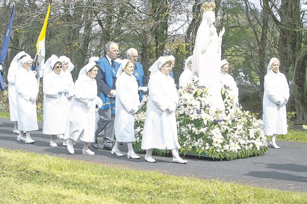 Changing times: A Rosary procession at the Knock Shrine in Co Mayo, where Catholic dating agency Knock Marriage Introductions has been based for 51 years. Photo: EAMONN FARRELL/ROLLINGENEWS.IE