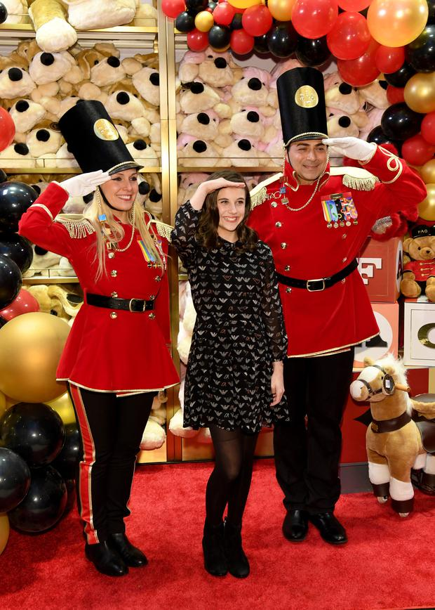 Actress Mia Sinclair Jenness at the opening of FAO Schwarz's flagship store at 30 Rockfeller Plaza in New York City - now the retailer is to open in Arnotts. Photo: Kevin Mazur/Getty Images for FAO Schwarz