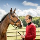 Jonty Evans and Art: 'He looked at me, I looked at him, and that's as far as it went.' Photo: Sarah Farnsworth