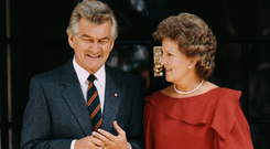 Bob Hawke with his first wife Hazel. Photo: Fox Photos/Hulton Archive/Getty Images