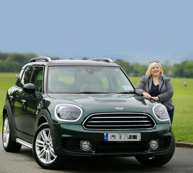 Carmel Breheny pictured with her Mini Countryman. Photo: Gerry Mooney